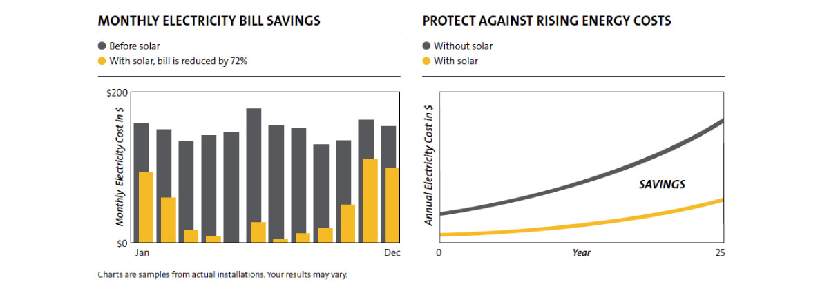 SolarWorld Electric savings diagram.