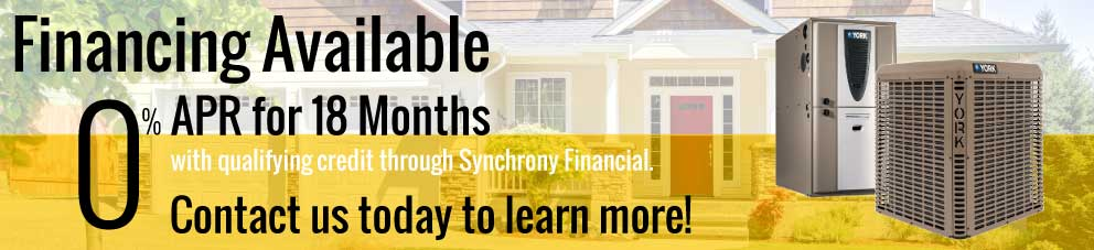 Financing Available! 0% APR for 18 Months with qualifying credit through Synchrony Financial.