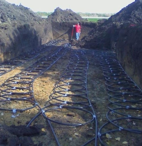 Geothermal Dig and Loop Installation